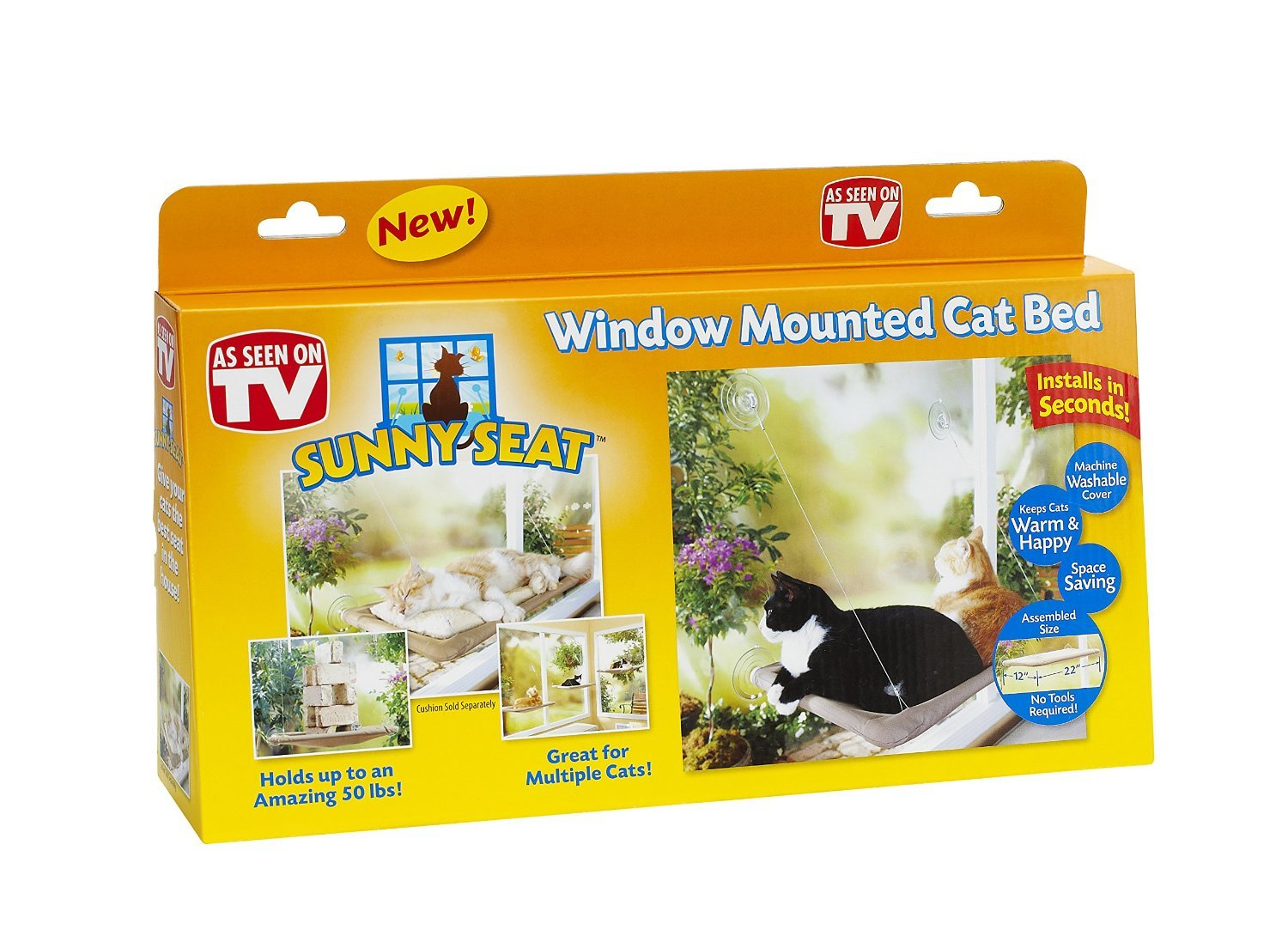 Marvelous Sunny Seat Cat Window Bed For Cats Review Cattime Andrewgaddart Wooden Chair Designs For Living Room Andrewgaddartcom