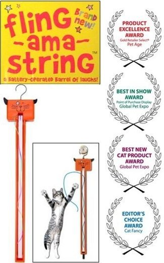 Fling-ama-String hysterical cat toy