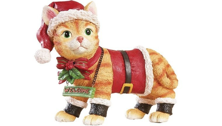 Outdoor Motion Sensor Christmas Cat