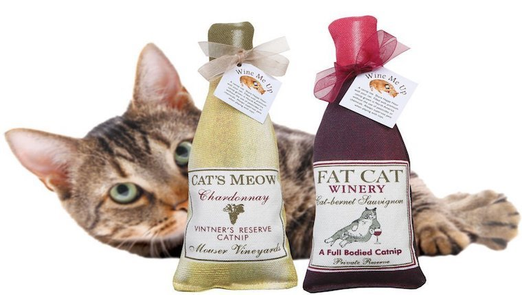 Catnip wine toy