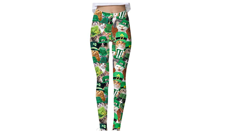 Irish cat-themed leggings